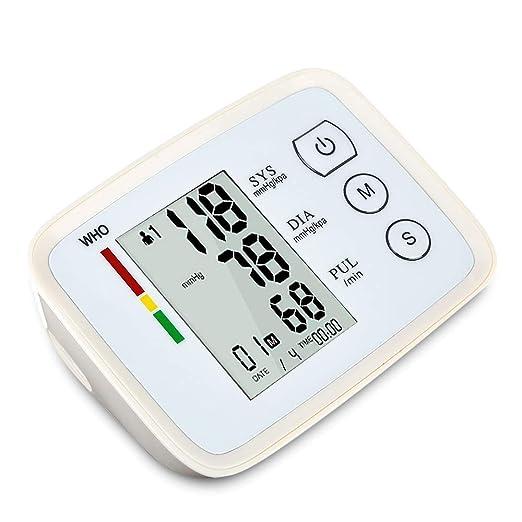 Top-Vigor - Monitor de presión Arterial (Recargable, USB, con Lectura de Voz, presión Arterial, Pulso con Pulso con Pantalla LCD Digital y puño de Gran ...