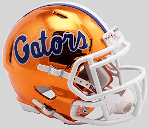 Riddell NCAA Florida Gators Unisex Florida Gators Helmet Replica Mini Speed Style Chrome Alternatehelmet Replica Mini Speed Style Chrome Alternate, Team Colors, One Size