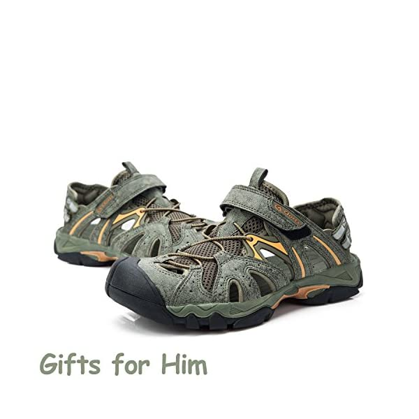 2e3d18107c93 Clorts Men s Closed-Toe Outdoor Athletic Sandal Fisherman Hiking Water ...