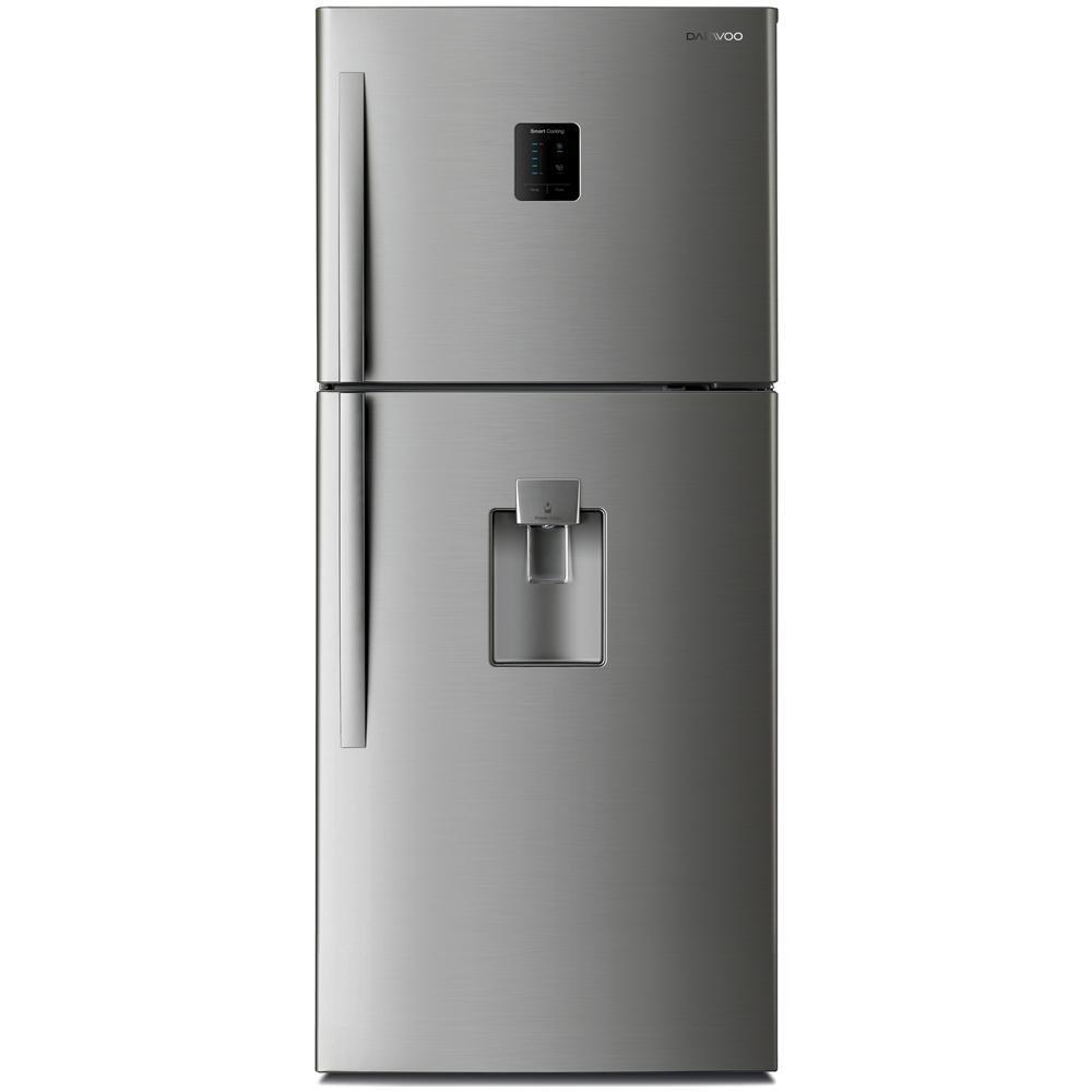 DAEWOO Kühlschrank oben 505 LT Energie A + NO FROST LED Edelstahl fn ...