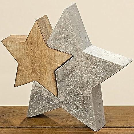 Beton Sterne Set 3 Stück Indoor Outdoor Weihnachten Deko