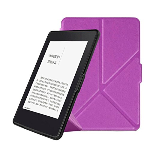 For Kindle 2015 6-inch,Kshion Magnetic Auto Sleep Cover Case [Anti Slip] for New Kindle 2014 New Kindle 2015 6-inch +Touch pen+ Film (Purple) - Cars Cover Case For Kindle Touch