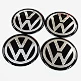 4x 55mm Black VW Volkswagen Wheel Logo Cap Badge Emblem Sticker by Madeforcar
