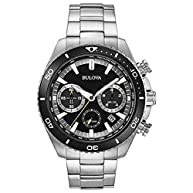 BULOVA Stainless Steel Men's Chronograph Watch 98B298
