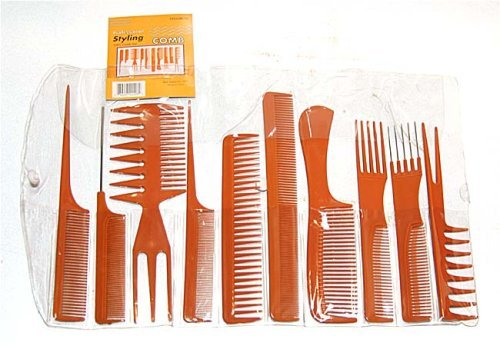 Professional Styling Comb (Magic 10 Piece Professional Styling Comb Set (BONE))