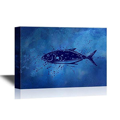 Giant Tuna Fish Swimming under Deep Ocean Gallery