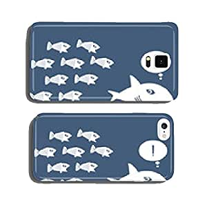 Little Fish Eat Big Fish. Unity, Teamwork, Organize Concept cell phone cover case Samsung S6