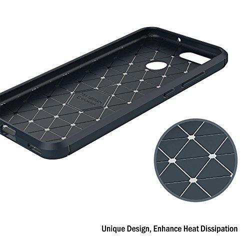Funda Huawei Nova 2, AICEK Negro Silicona Fundas para Huawei Nova 2 Carcasa Huawei Nova 2 Fibra de Carbono Funda Case (5,0 Pulgadas) Azul