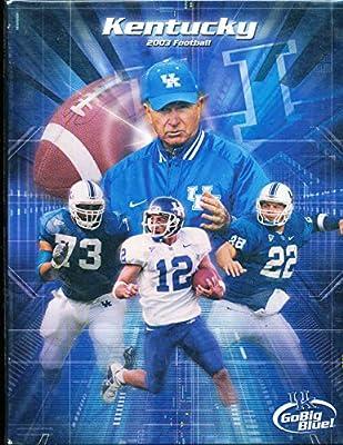 2003 University of Kentucky Football Media Guide bx111