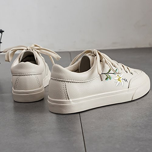 Chaussures Femme Fleur NGRDX Sneakers Casual Broderie Femme amp;G Baskets pqAw0CF
