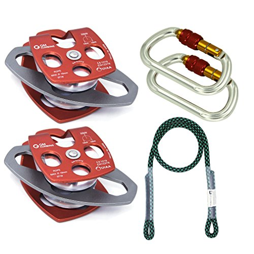 GM CLIMBING Hardware Kit for 5:1 Mechanical Advantage Pulley/Hauling/Dragging System Block and Tackle Screw Lock
