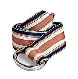F.H. Wadsworth Grosgrain Ribbon D-Ring Belt (X-Small, Gibson)