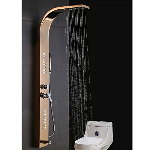 Shower panel yoco shower system bathroom tower with body for Shower tower with body jets