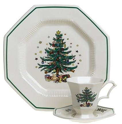 nikko ceramics christmastime 12 piece dinnerware set service for 4 - Cheap Christmas Dinnerware Sets
