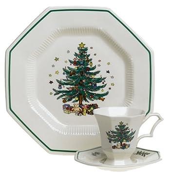 Nikko Ceramics Christmastime 12-Piece Dinnerware Set, Service for 4