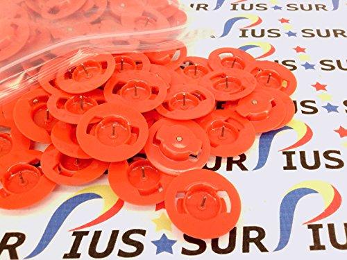 Nexpak Case - 150 Pack BD-CAP-RED Circle Locking Nexpak Amaray Benefit Denial DVD Secure Case Security Anti Theft Tags