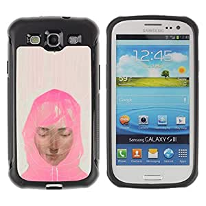 Suave TPU GEL Carcasa Funda Silicona Blando Estuche Caso de protección (para) Samsung Galaxy S3 III I9300 / CECELL Phone case / / Muslim Woman Pink Scarf Art Painting Portrait /