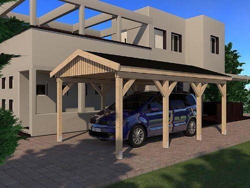CarPort tejado Le Mans I 350 cm x 600 cm Kvh montar M. estática construcción de madera maciza: Amazon.es: Coche y moto