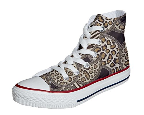 Converse Customized Adulte - chaussures coutume (produit artisanal) Jungle