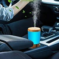 Difusor de Aromas Humificador Aceites Esenciales,Mini 50ml Portátil para Coche Vaporizador Aromaterapia Silencioso,LED…