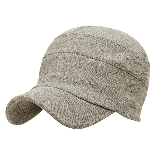 Fit Soft Casual Beige Dark Solid ililily Cap Work Flex Hat Color Slouchy Cotton wqXfT