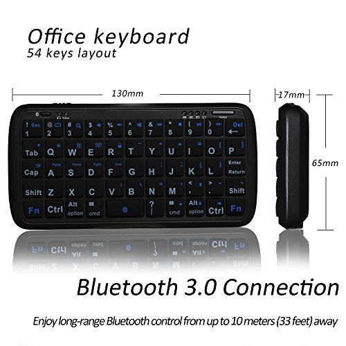 Mini Bluetooth Keyboard Portable, eJiasu Handheld Wireless Keyboard Travel Keyboard with Rechargable 4000mAh Power Bank for Apple iPhone 8/7 plus/6 plus/6/5s/5 Android Smartphone (Black) by eJiasu (Image #2)