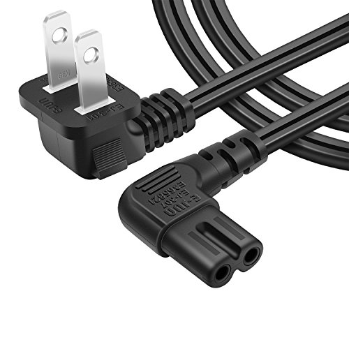 [UL listed]Powseed 6.5FT AC wall power cord plug 2 prong cable IEC-60320 IEC320 C7 for Sony Dell Toshiba Acer Asus Gateway HP MSI Compaq Led Lcd Tv Samsung Lg Sharp - Lcd 2650