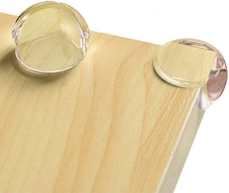 JUNSHUO 12PCS Protectores de Esquinas Transparentes Para Bebes y Ni/ños Esf/érico Accesorios de Seguridad para Puertas de Mesas de Muebles Esquinas Anticolisi/ón Contra Suave con Adhesivo