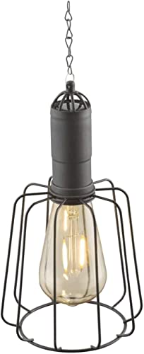 Lámpara solar para jardín, decoración de jardín, farol para exterior, lámpara solar de jardín (lámpara colgante, lámpara decorativa, LED, 50 cm, bombilla, negro): Amazon.es: Iluminación