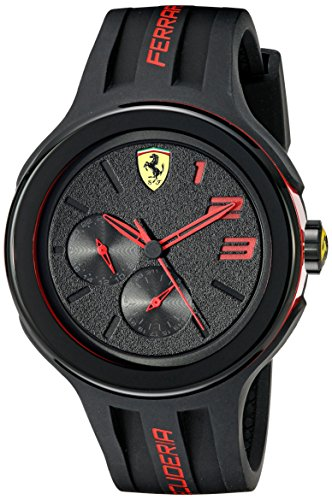 Ferrari Men's 830223 FXX Red-Accented Black Watch