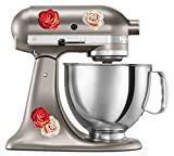 kitchenaid mixer flower - Kitchen Aid Mixer Decal of Watercolor Roses - Extra Rose Pack - Artistic Full Color Post Impressionist Painted Style Colorful Flowers