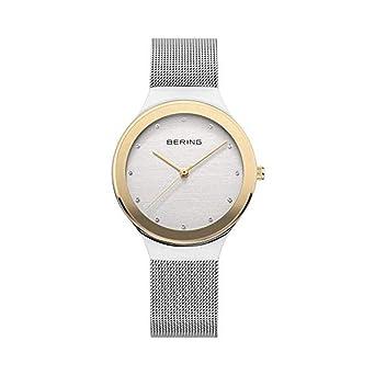 BERING Reloj Analógico para Mujer de Cuarzo con Correa en Acero Inoxidable 12934-010: Amazon.es: Relojes