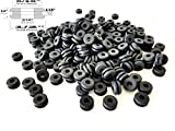 Lot of 50 Rubber Grommets 3/16'' Inside Diameter - Fits 5/16'' Panel Holes