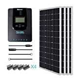 Renogy 400 Watt 12 Volt Monocrystalline Solar Starter Kit with 40A Rover MPPT Charge...