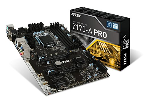Dual Channel Msi (MSI Pro Solution Intel Z170A LGA 1151 DDR4 USB 3.1 ATX Motherboard (Z170-A Pro))
