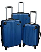 Kemyer 650 Lightweight 3-PC Expandable Hardside Spinner Luggage Spinner Set