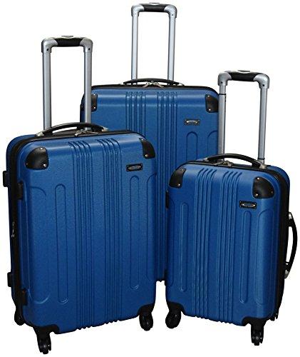 Kemyer 650 Lightweight 3-PC Expandable Hardside Spinner Luggage Spinner Set (Blue)