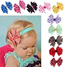 FEITONG 10PC Cute Flower Toddlers Baby Headband Hairband Wave Point Bowknot Photography