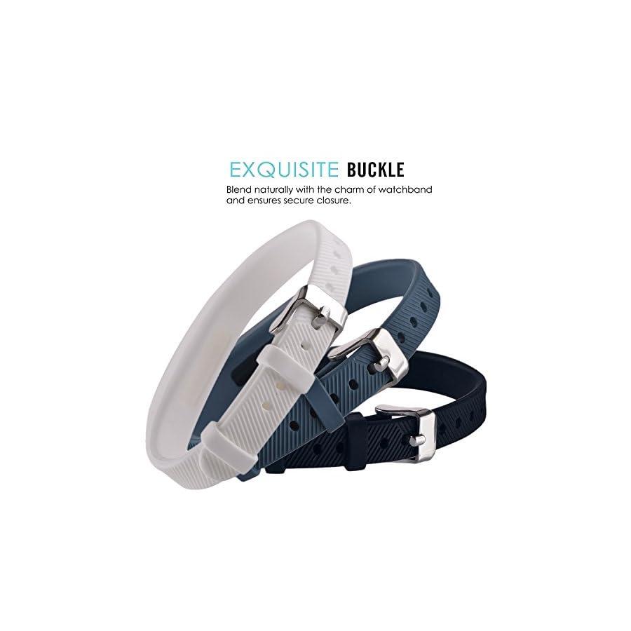Huishang Flex 2 Accessory Bands for Fitbit Flex 2/Fit bit flex2, With Chrome Claspor Soft Silicone Fitness Bracelet Strap, Adjustable Replacement Wrist Band for Fitbit Flex 2 Fitness Smart Watch