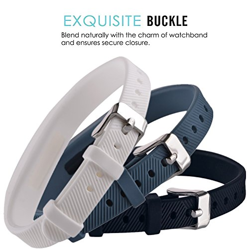 Huishang Flex 2 Accessory Bands for Fitbit Flex 2 / Fit bit flex2, With Chrome Claspor Soft Silicone Fitness Bracelet Strap, Adjustable Repalcement Wrist Band for Fitbit Flex 2 Fitness Smart Watch