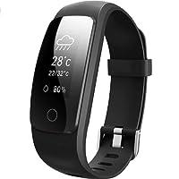 Willful Pulsera Inteligente, Podómetro, Monitor de Ritmo Cardíaco,Dormir,Calorías,IP67 Impermeable, Cronómetro, Modo multideportePulsómetro Pulsera para Android y iOS Teléfono móvil (Negro)