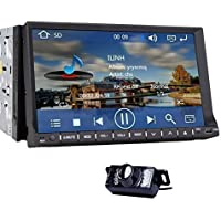 Pupug 7 Inch Touch Screen Bluetooth Double DIN Car DVD Video Player with GPS Navigation