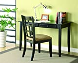 Coaster 2pc Home Office Writing Desk and Chair in Black Finish