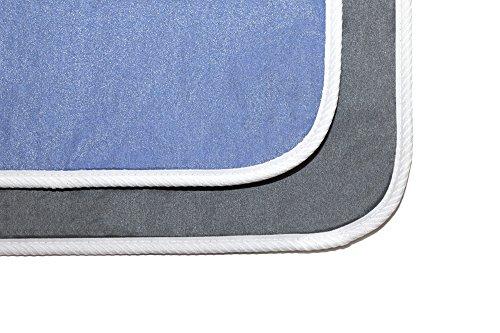 "22"" by 34"" - Full Size Premium Ironing Blanket - IronPro Pad AlumiTek coated, Heat-Reflective, Scorch Resistant, Multi-Layer; Foam, Fiber & Non-Slip/Waterproof backing - Ironing Mat - Color/Gray"