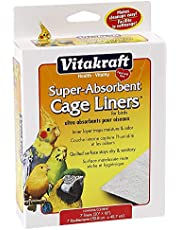 Vitakraft 512071 7-Pack Super Absorbent Cage Liners for Birds