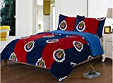 CLUB CHIVAS DE GUADALAJARA ORIGINAL MEXICAN SOCCER BLANKET WITH SHERPA VERY SOFTY THICK AND WARM 3 PCS QUEEN SIZE