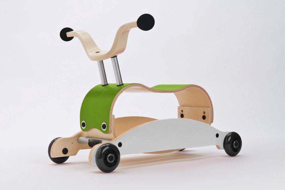 Rutschauto Holz - WISHBONE mini FLIP Grün-Weiß
