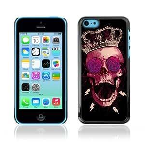 Designer Depo Hard Protection Case For Iphone 5C Cover Skull N Rose