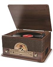 ION Audio Superior LP - 7-in-1 muziekcentrum (platenspeler, cd- en cassettespeler, radio, Bluetooth-streaming, USB Playback/Recording)