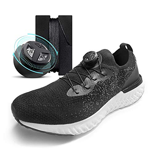 Spin Buckle Fast Automatic Lace-up Artifact outdoor Sports Shoe Decoration Elastic Tight Straps Shoelaces Lazy laces(Black)